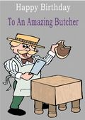 Butcher - Greeting Card